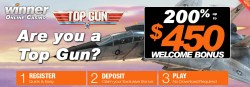 Play the new Top Gun Slot At Winner Casino